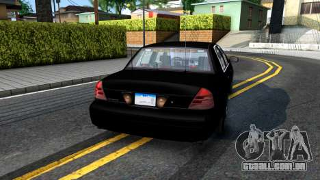 Ford Crown Victoria OHSP Unmarked 2010 para GTA San Andreas esquerda vista