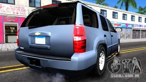 Chevy Tahoe Metro Police Unmarked 2012 para GTA San Andreas