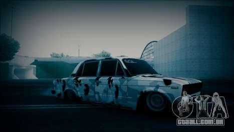 VAZ 2106 Camuflagem para GTA San Andreas esquerda vista