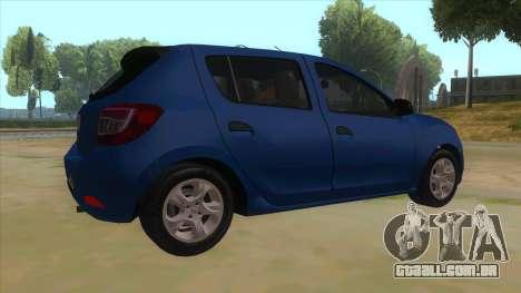 2016 Dacia Sandero para GTA San Andreas vista direita