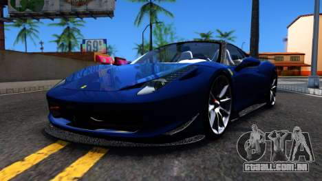 Ferrari 458 Italia Tune para GTA San Andreas esquerda vista