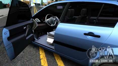 Renault Megane Sedan para GTA San Andreas vista traseira