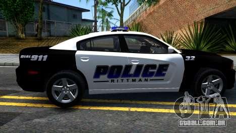 Dodge Charger Rittman Ohio Police 2013 para GTA San Andreas esquerda vista
