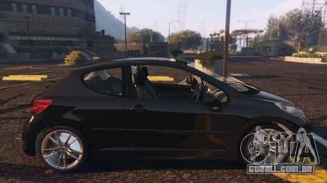 GTA 5 Peugeot 207 vista lateral esquerda