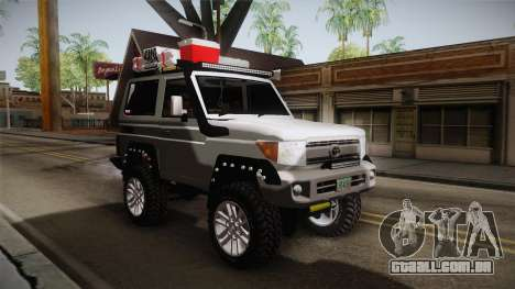 Toyota Land Cruiser Machito 2013 Sound Y para GTA San Andreas vista direita