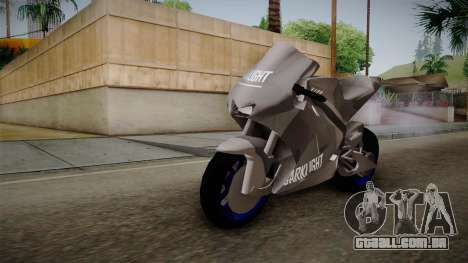 Dark Light Motorcycle para GTA San Andreas vista direita