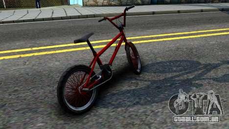 BMX Enhance para GTA San Andreas traseira esquerda vista