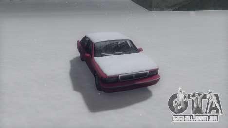 Premier Winter IVF para GTA San Andreas traseira esquerda vista