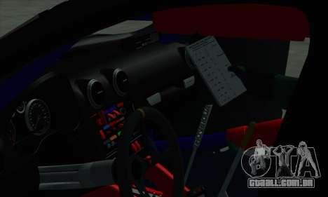 Audi RS3 Sportback Rally WRC para as rodas de GTA San Andreas