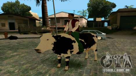 Andando na vaca para GTA San Andreas