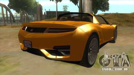 GTA V Dynka Jester Spider para GTA San Andreas vista direita