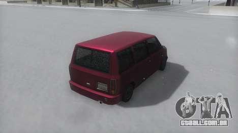 Moonbeam Winter IVF para GTA San Andreas vista direita