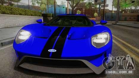 Ford GT 2017 para GTA San Andreas vista direita