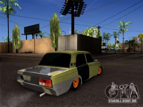 VAZ 2107 hobo para GTA San Andreas vista direita