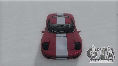 Bullet Winter IVF para GTA San Andreas traseira esquerda vista