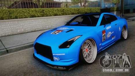 Nissan GT-R R35 2015 para GTA San Andreas vista inferior