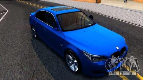 BMW E60 520D M Technique para GTA San Andreas esquerda vista