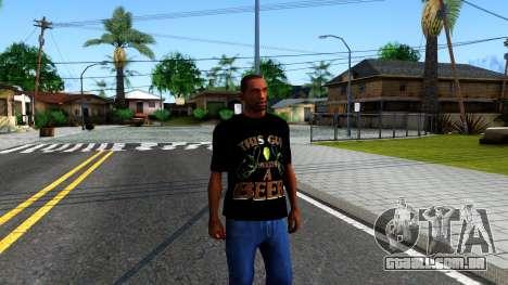 Black Beer T-Shirt para GTA San Andreas segunda tela