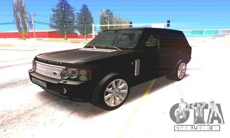 Land Rover 2010 para GTA San Andreas esquerda vista