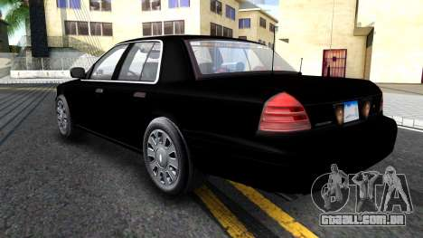 Ford Crown Victoria OHSP Unmarked 2010 para GTA San Andreas vista traseira