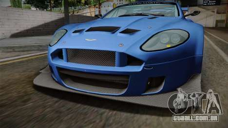 Aston Martin Racing DBRS9 GT3 2006 v1.0.6 para vista lateral GTA San Andreas