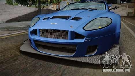 Aston Martin Racing DBRS9 GT3 2006 v1.0.6 para vista lateral GTA San Andreas