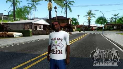 White Beer T-Shirt para GTA San Andreas
