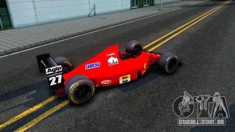 Ferrari 640 F1 1989 para GTA San Andreas traseira esquerda vista