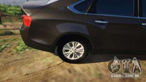 GTA 5 Chevrolet Impala 2015 vista lateral direita