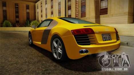 Audi R8 Coupe 4.2 FSI quattro EU-Spec 2008 Dirt para GTA San Andreas vista direita