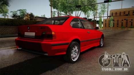 BMW 328i E36 Coupe para GTA San Andreas esquerda vista