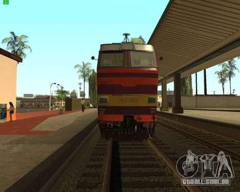 Locomotiva de passageiros CHS4t-521 para GTA San Andreas vista direita