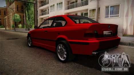 BMW 328i E36 Coupe para GTA San Andreas traseira esquerda vista