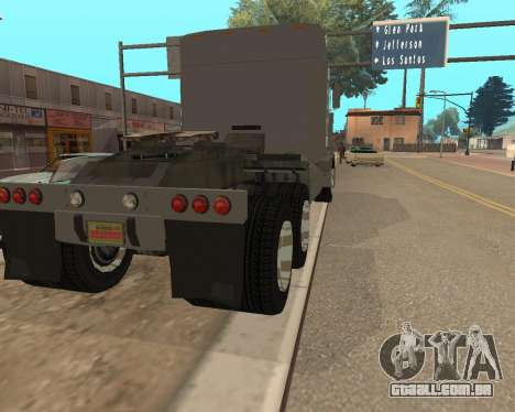 Dude Road Train para GTA San Andreas traseira esquerda vista
