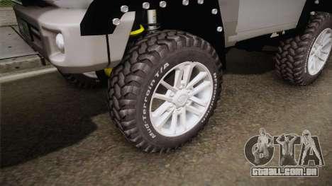 Toyota Land Cruiser Machito 2013 Sound Y para GTA San Andreas vista traseira