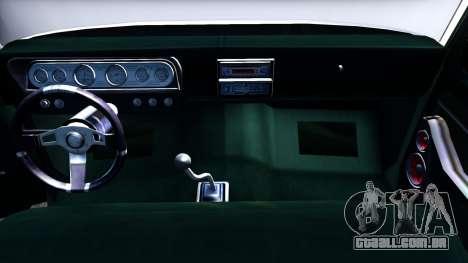 Ford F-350 Plataforma para GTA San Andreas vista interior