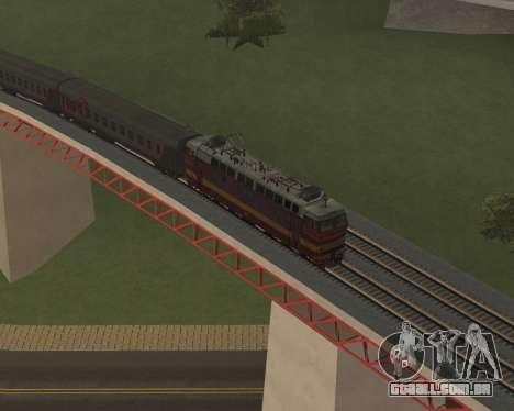 Locomotiva de passageiros CHS4t-521 para as rodas de GTA San Andreas