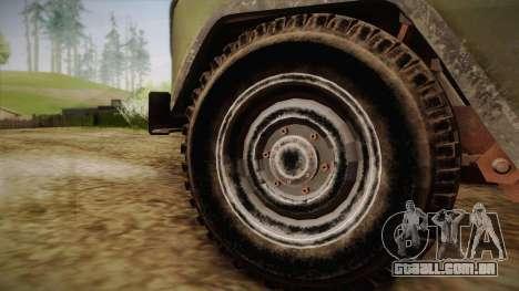 УАЗ-3151 CoD4 MW Remasterizada para GTA San Andreas traseira esquerda vista
