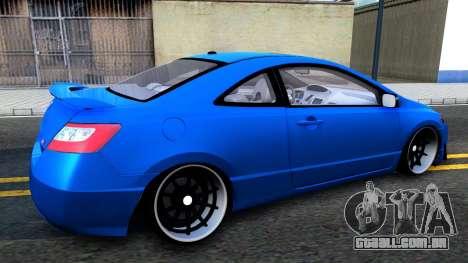 Honda Civic Si para GTA San Andreas traseira esquerda vista