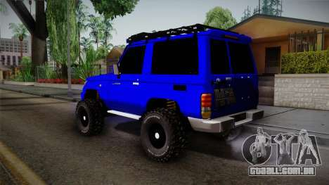 Toyota Macho 2015 Off Road para GTA San Andreas esquerda vista