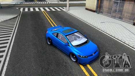 Honda Civic Si para GTA San Andreas vista interior