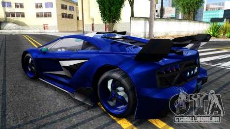 GTA V Pegassi Lampo para GTA San Andreas traseira esquerda vista