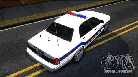 Vapid Stanier Metropolitan Police 2009 para GTA San Andreas vista direita