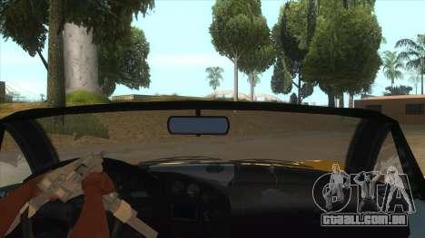 GTA V Dynka Jester Spider para GTA San Andreas vista interior