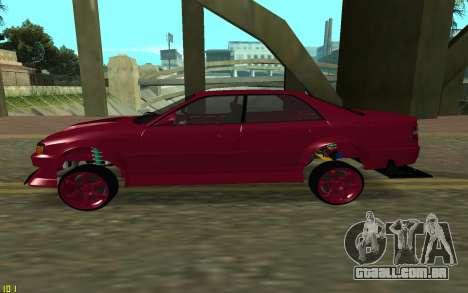 Toyota Chaser Sport para GTA San Andreas esquerda vista