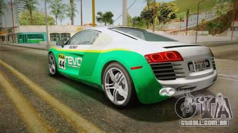 Audi R8 Coupe 4.2 FSI quattro US-Spec v1.0.0 v4 para GTA San Andreas vista superior