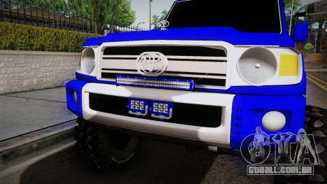 Toyota Macho 2015 Off Road para GTA San Andreas vista interior