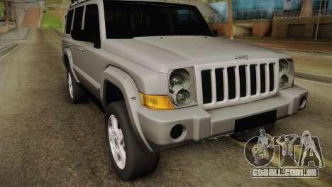 Jeep Commander 2010 para GTA San Andreas traseira esquerda vista