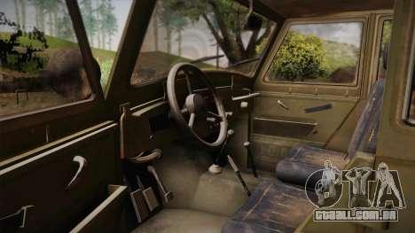 УАЗ-3151 CoD4 MW Remasterizada para GTA San Andreas vista interior