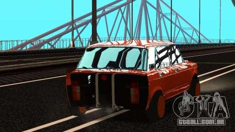 VAZ 2105 patch 3.0 para GTA San Andreas esquerda vista